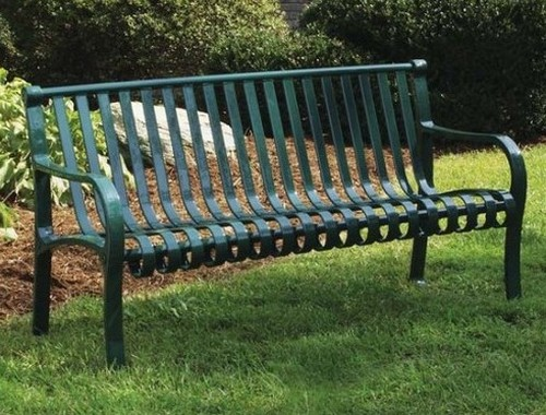 Metal bench for the garden