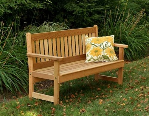 Garden benches made ​​of wood Photo
