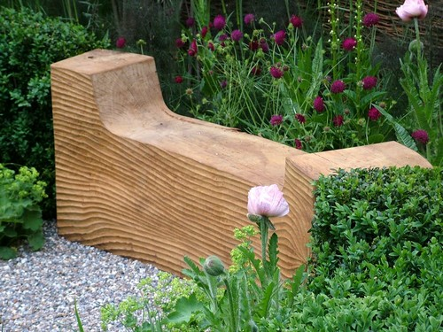 Original wooden garden benches