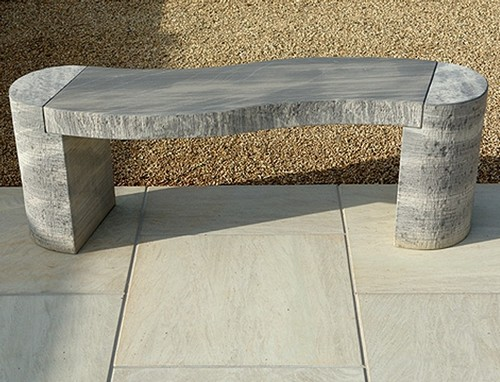 Bench without back made ​​of stone
