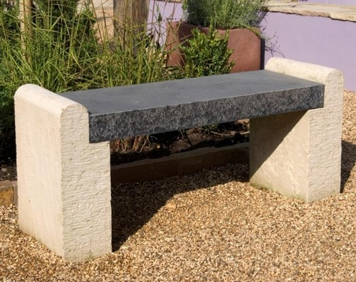 Stone benches without backrest