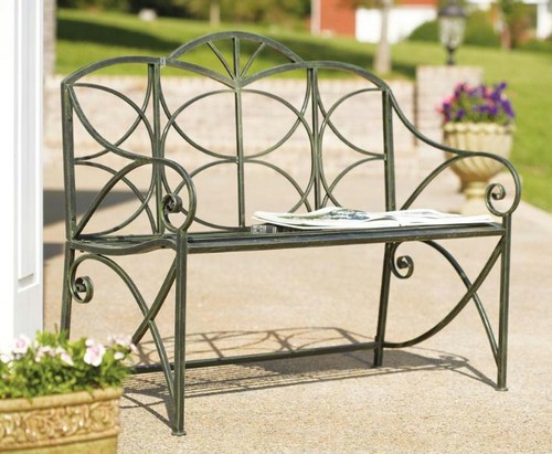 Wrought iron benches photo