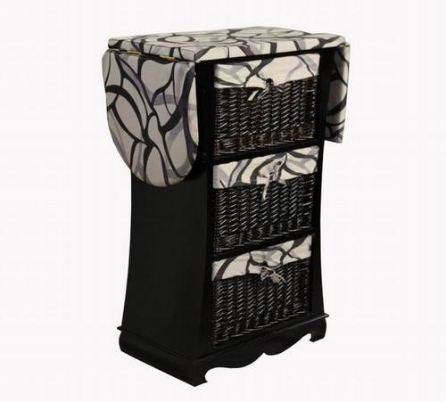 Ironing board , chest of drawers from rattan