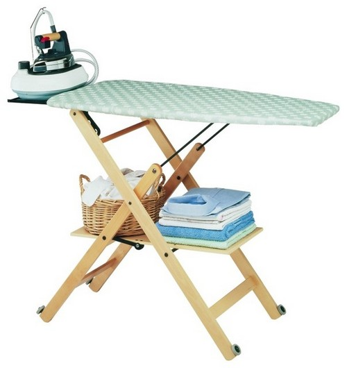 ironing board with a steam generator