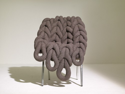 Knitted furniture chair covers