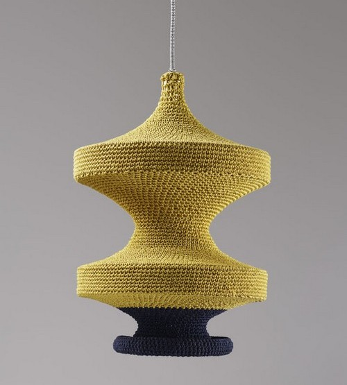 Knitted lamps - decorative covers Knitting for fixtures