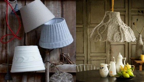 Cases crocheted lamp