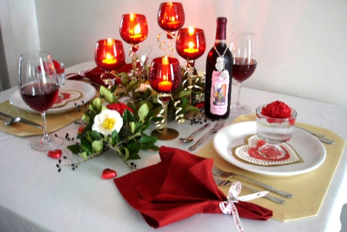 How to decorate a room for Valentine