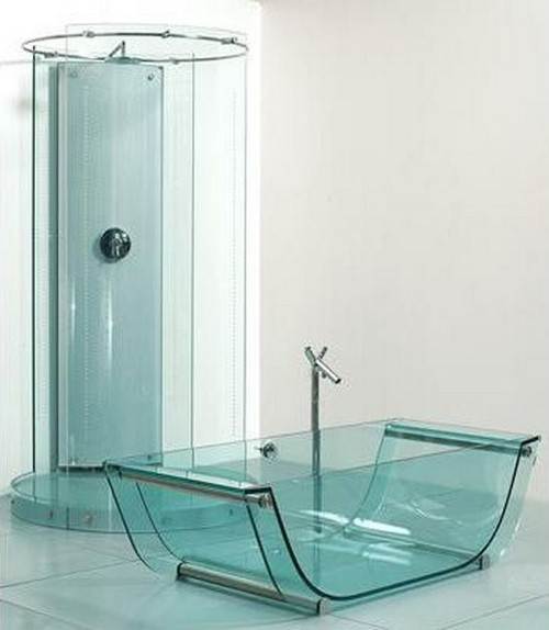 glass baths and showers