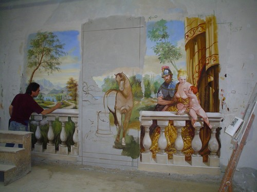 The frescoes in the interior