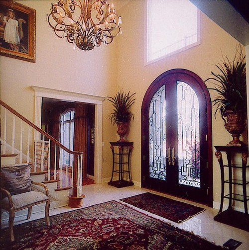 Luxury entrance doors with glass