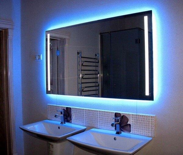 подсветка стены светодиодной лентой фото