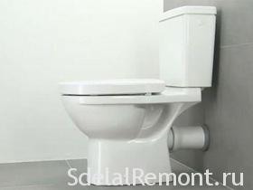 Installing a toilet bowl with his hands video, photo