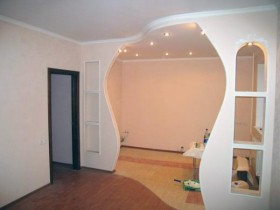 Decorative plasterboard partitions