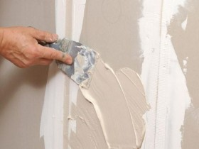 plaster under the wallpaper