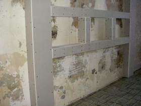 The shelves and niches plasterboard