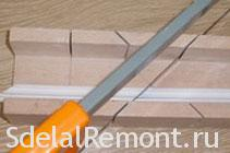 How to cut inside corners ceiling moldings