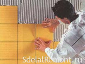 Tips for laying ceramic tile picture