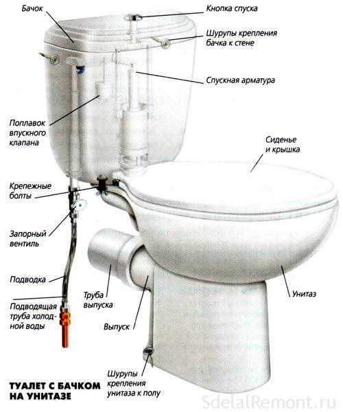 The mechanism of the toilet photo
