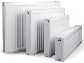 Set of steel radiators