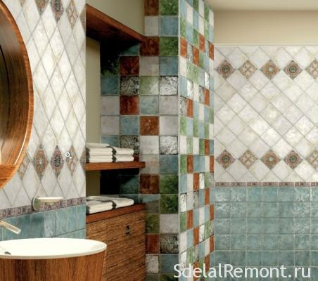 Options for laying tiles in the bathroom