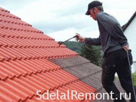 Painting roofs photo