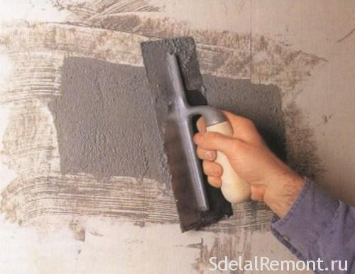 Glossing over the hole in the wall with a spatula