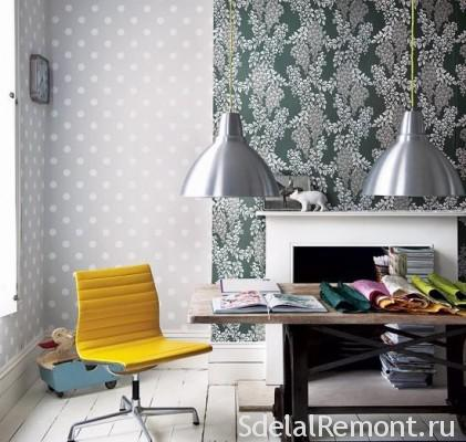 Light wallpaper visually expand the space