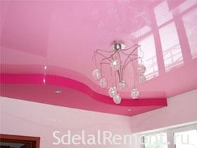 How to choose a stretch ceiling right photo .Red and pink stretch ceiling