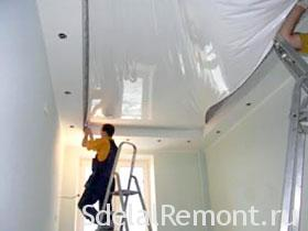 Mounting tension ceiling photo