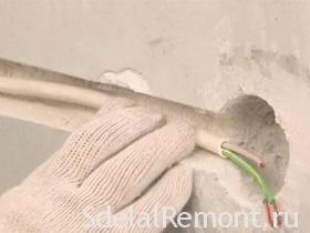 How to make the installation of hidden wiring under plaster picture plaster,