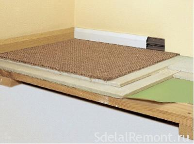 wood floor tiles device