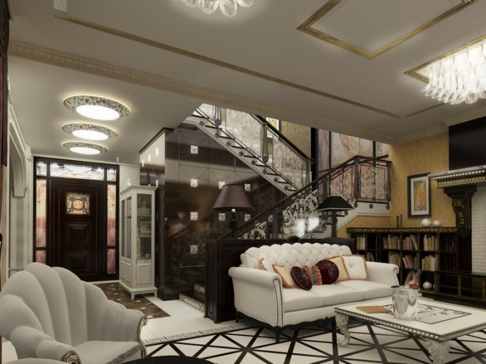 shine and splendor of art deco in the interior of apartments