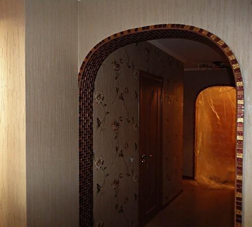 Оформление арки в квартире обоями своими руками 27