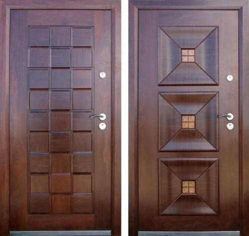 бюджетные металлические белые двери