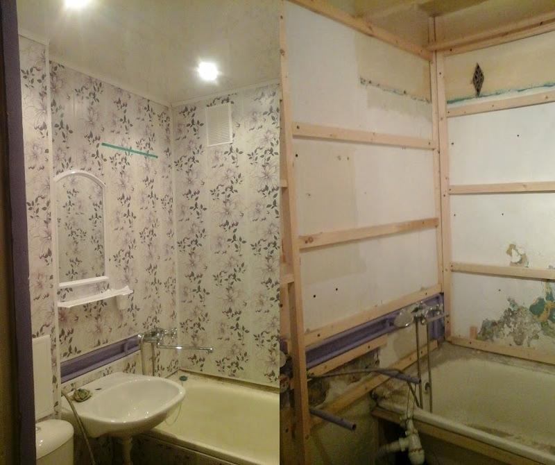 Ванная комната ремонт своими руками пластиковые панели