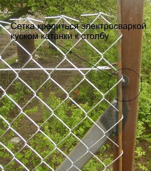 Забор рабица монтаж своими руками 210