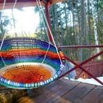 Кресло гамак плетеное 125