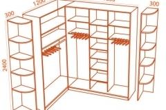 Шкафы купе угловые каталог фото и схемы