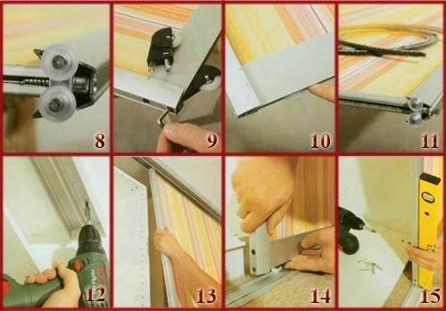 Как собрать двери шкафа купе