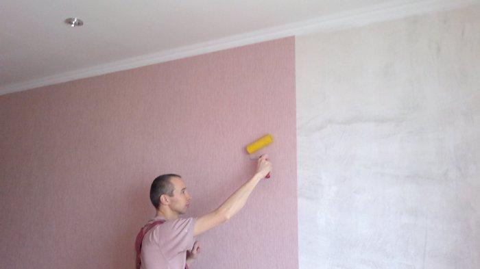 Как сделать покрасить для обои 643