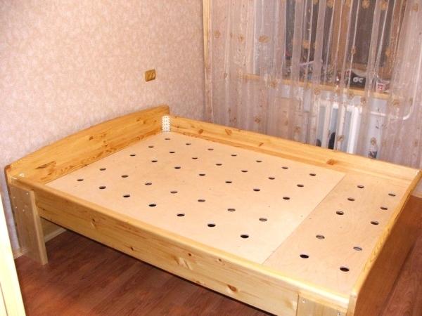 Как сделать кровать своими руками из мебельного щита