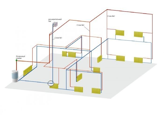 Расчет система отопления 2-х этажного частного дома своими руками 35