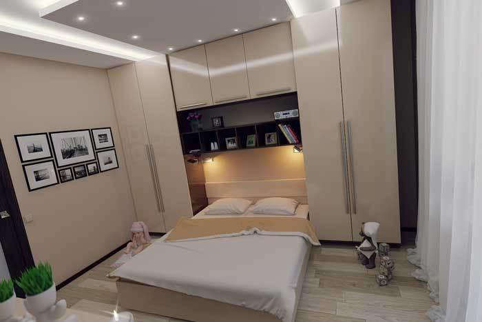 Дизайн спальной комнаты 14 кв.м