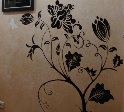 Рисунок на стене своими руками в прихожую