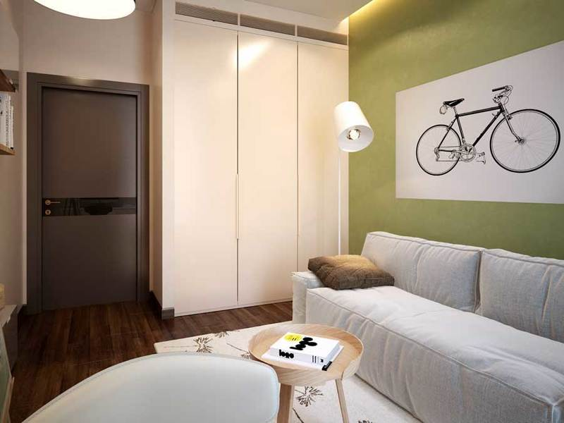 Интерьер комнаты 10 кв.м фото с диваном