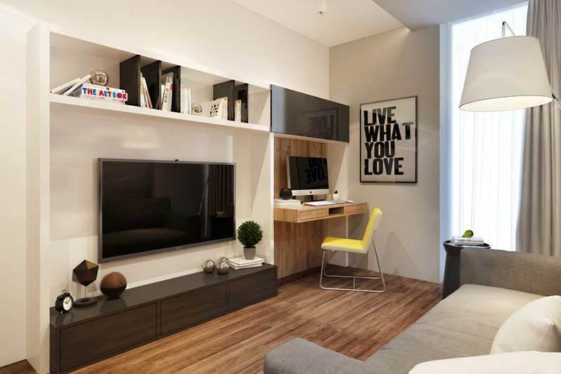 Фото комнаты 11 кв м дизайн с диваном