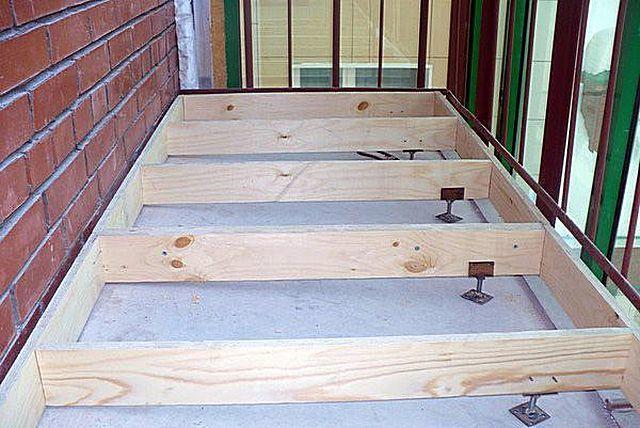 Как сделать пол на балконе из доски 636