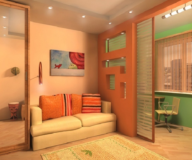 Дизайны перегородок в комнате 163