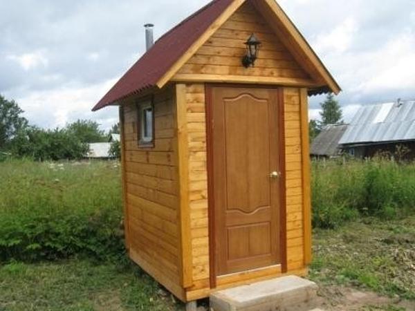 Построить туалет на улице своими руками фото